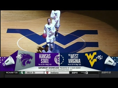 NCAAB 02 03 2018 Kansas State at West Virginia 720p60