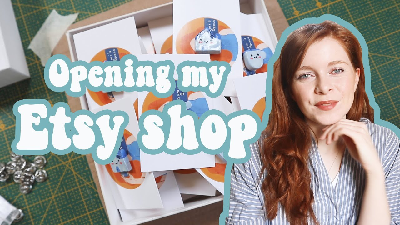 OPENING MY ETSY SHOP | How to Open an Etsy shop, Selling on Etsy, Artist Selling Stickers and Pins