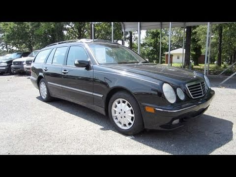 2002 mercedes benz e320 wagon start up engine and in for Mercedes benz e320 engine