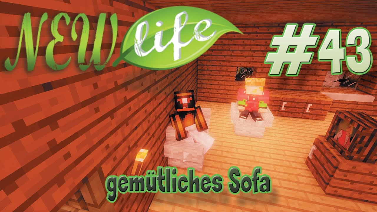 gem tliches sofa in minecraft new life 43 youtube. Black Bedroom Furniture Sets. Home Design Ideas