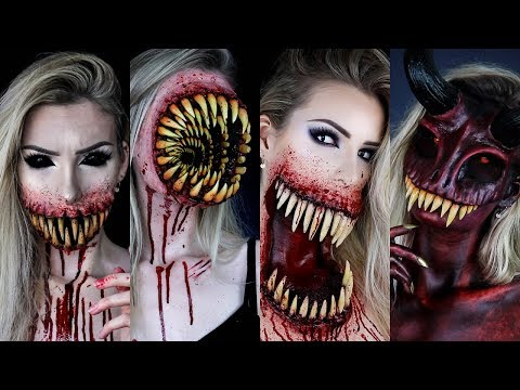 My Best Monsters HALLOWEEN SFX MAKEUP TUTORIALS   Scary Special Effects Compilation