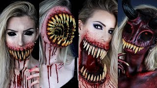 My Best Monsters HALLOWEEN SFX MAKEUP TUTORIALS | Scary Special Effects Compilation