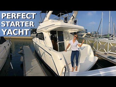 $110,000 2001 BAYLINER 3488 COMMAND BRIDGE Entry-Level Power Yacht Tour / Starter Liveaboard Boat