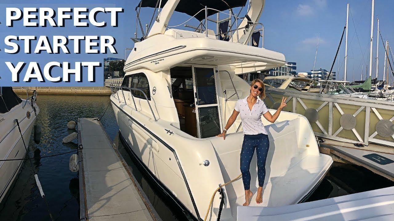 Download $110,000 2001 BAYLINER 3488 COMMAND BRIDGE Entry-Level Power Yacht Tour / Starter Liveaboard Boat