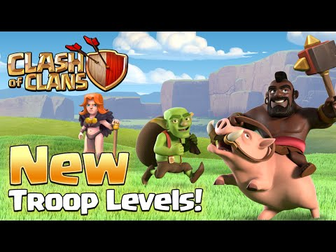 Clash of Clans - NEW UPDATE! Valkyrie Changes & New Troops Levels!