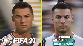 FIFA 21 vs PES 2021 PS4 Pro 4K Graphics Comparison