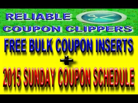 bulk coupon inserts for free
