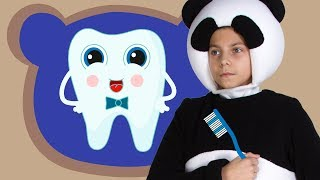 ЗУБКИ - Три Медведя - Веселая песенка про зубную щетку и зубки для детей малышей