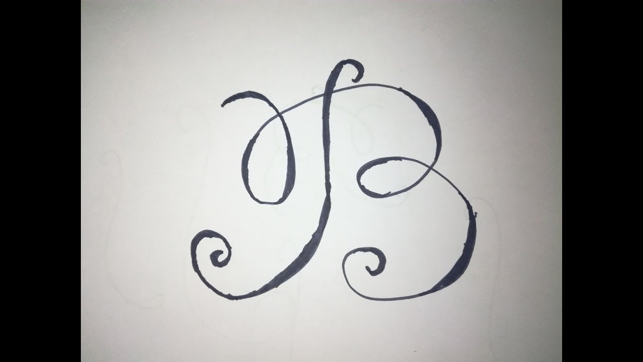 Fancy Calligraphy Alphabet Letter B