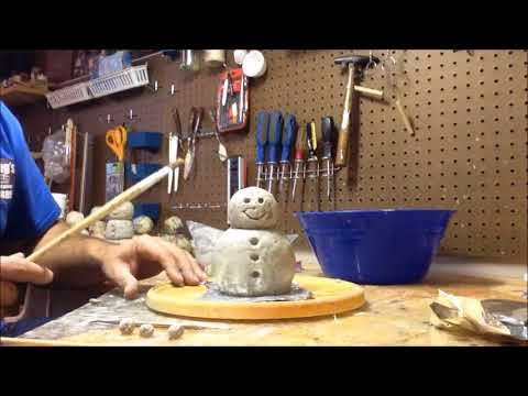 How to make a paper mache snowman for Christmas