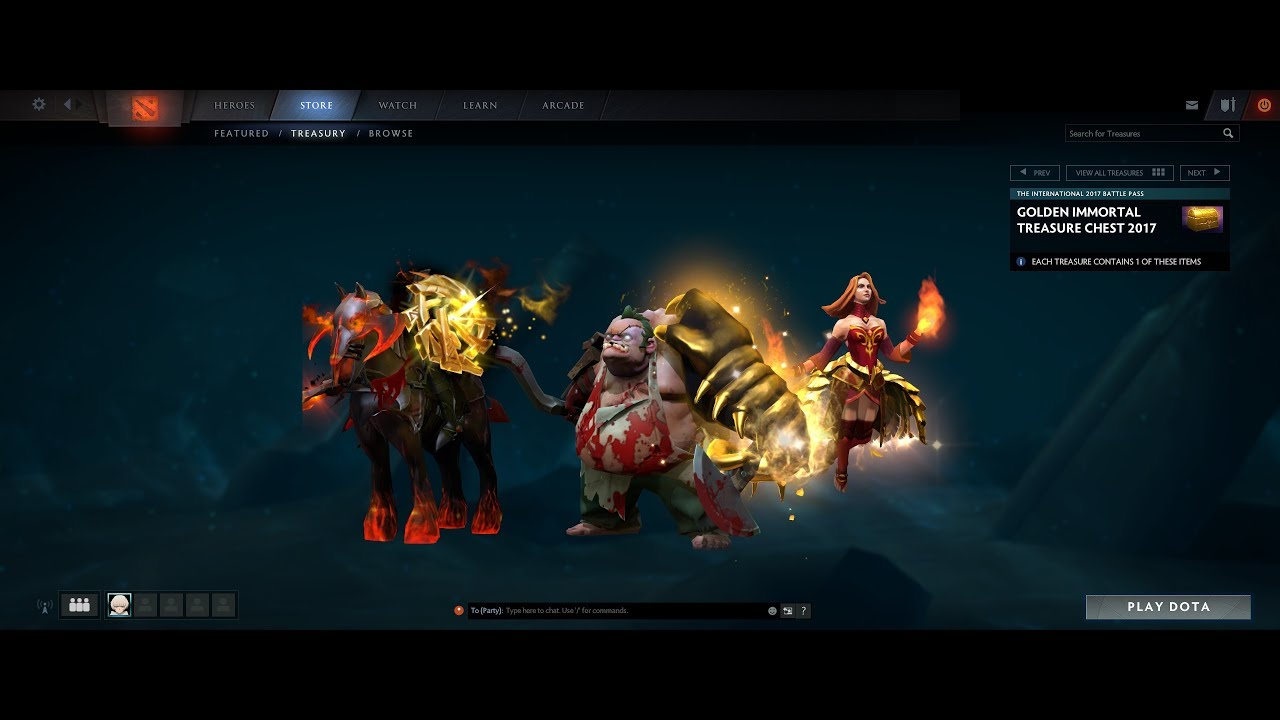 Dota 2 S Immortal Treasure 3 Launches: Dota 2 TI7 Golden Immortal Treasure Chest 2017 Chest