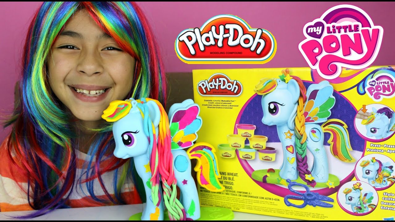 Tuesday Play Doh My Little Pony Rainbow Dash Style Salon My Little Pony Play Doh Youtube