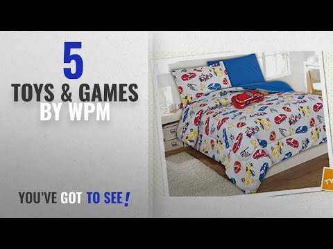 Top 10 Wpm Toys & Games [2018]: WPM Race Car Red Blue Print Bedding Set Choose From Full/Twin