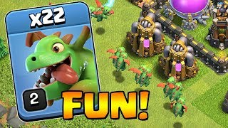 HOW TO HAVE FUN IN CLASH OF CLANS | TH9 Dark Elixir Time | Mass Baby Dragons