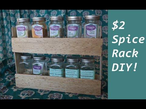 $2 Wood Spice Rack DIY