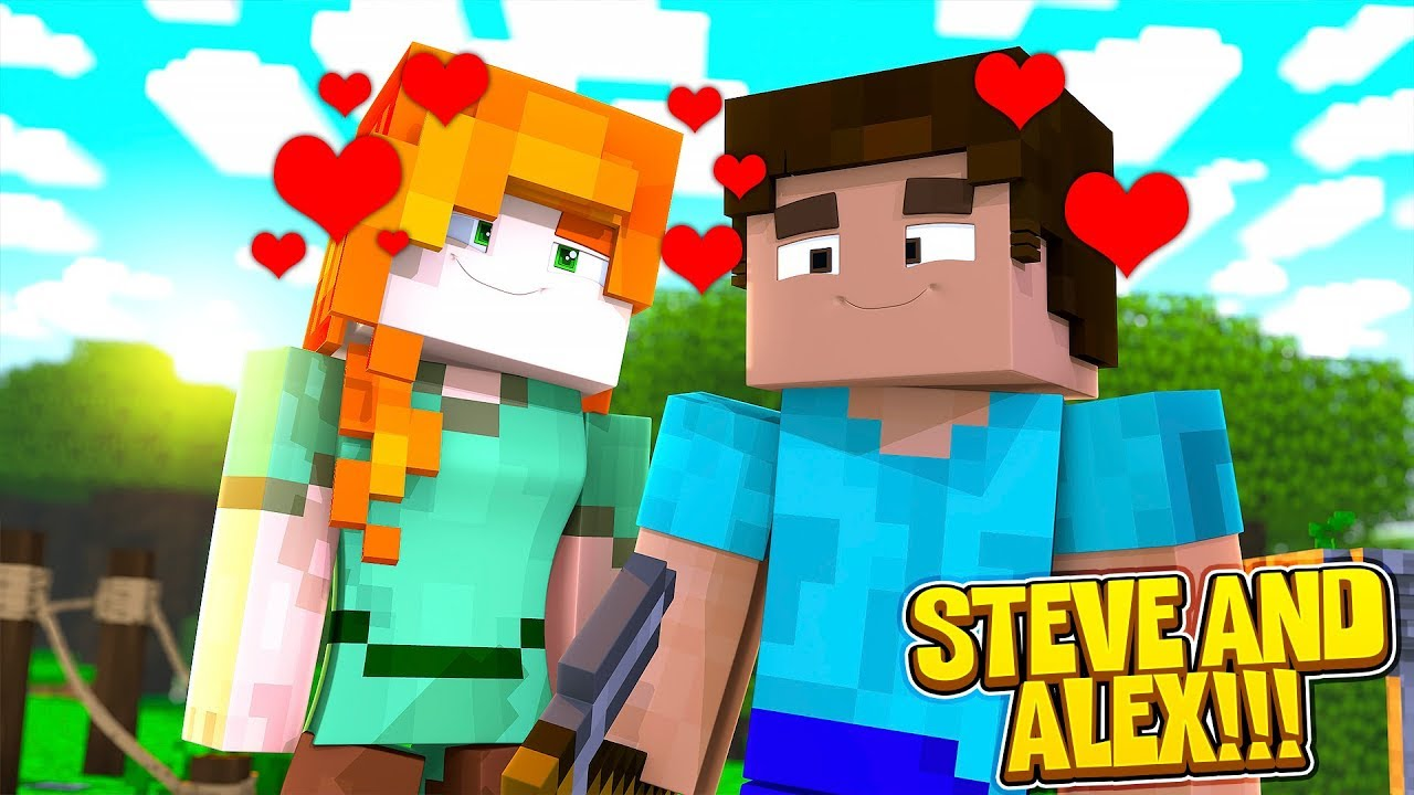 minecraft steve and alex life