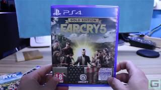 Far Cry 5 Gold Edition Unboxing PS4