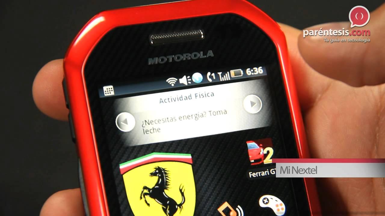 6d450cd755a10 Motorola i867 Edición Especial Ferrari - YouTube
