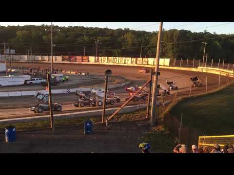 All Star Circuit of Champions at Lebanon Valley Speedway Heat Race 2017