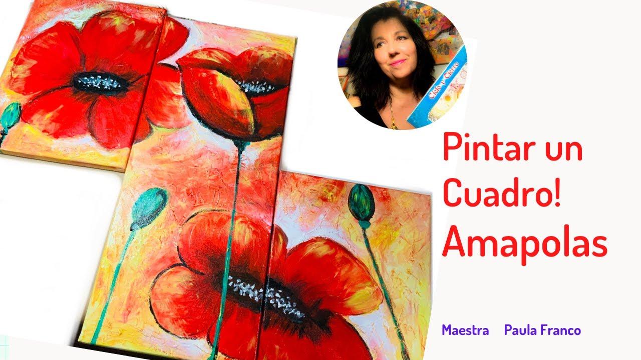 Como Pintar Amapolas? Pintura, artesanía y Manualidades para Una vida creativa