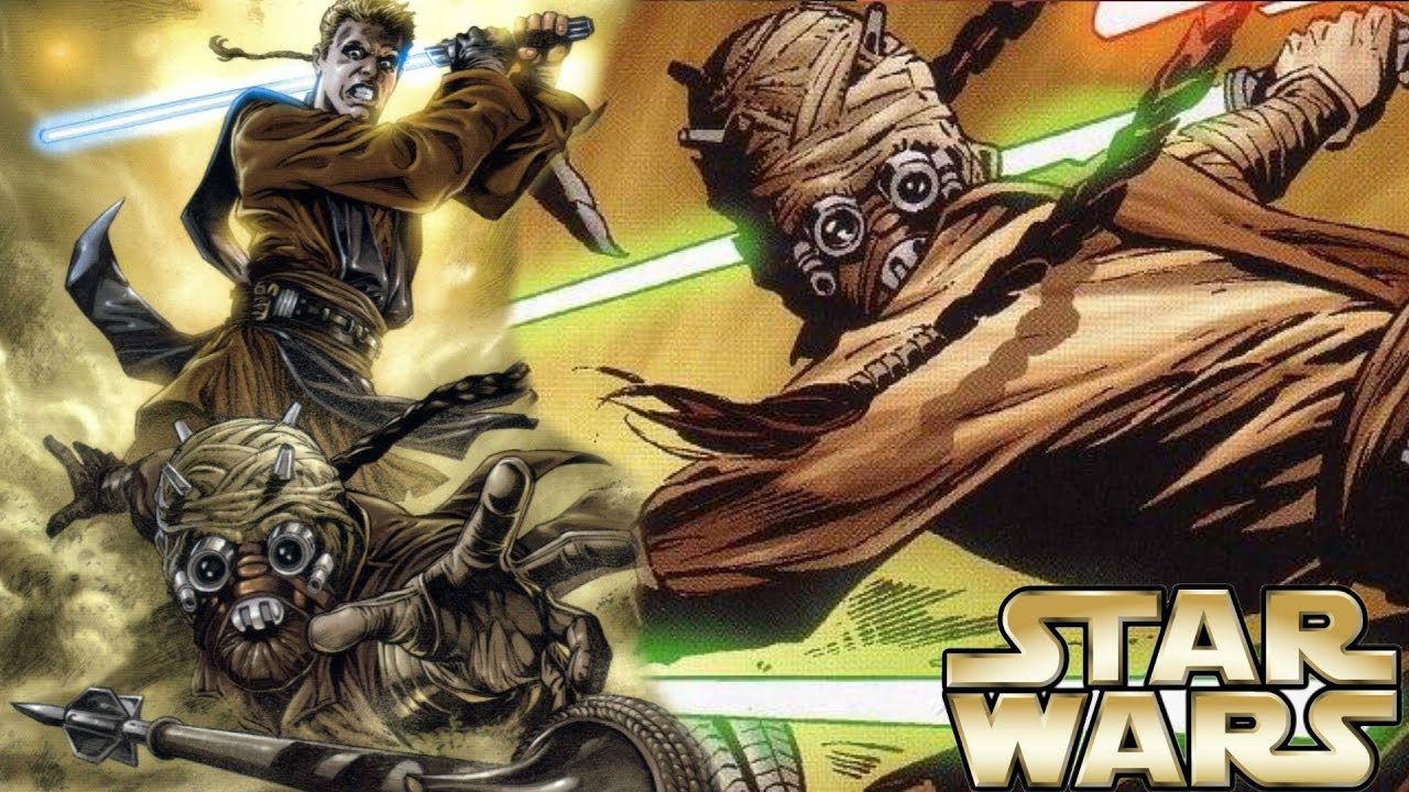How Anakin Tried To Kill A Tusken Raider Jedi Master Star Wars
