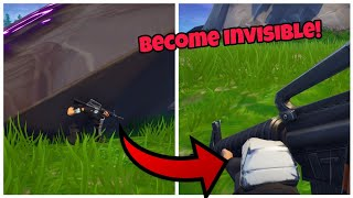 How To Become Invisible Easily In Fortnite Glitch (New) Fortnite Glitches Season 6 PS4/Xbox one 2018