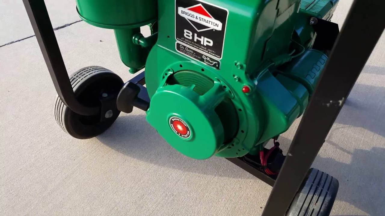 1992 Coleman Powermate 4000 Watt Pm54 4222 Generator With 8hp Briggs Stratton Youtube