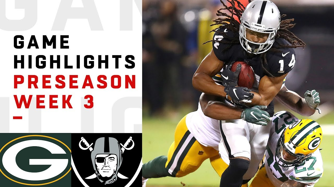 Packers Vs Raiders Highlights Nfl 2018 Preseason Week 3 Youtube