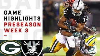 Packers vs. Raiders Highlights | NFL 2018 Preseason Week 3