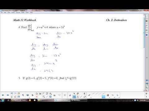 U2L6 Derivatives: The Chain Rule