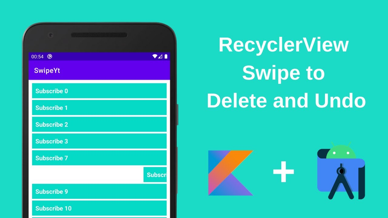 RecyclerView Swipe to Delete and Undo in Android & Kotlin