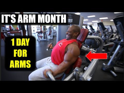 "How to Build ""MONSTER ARMS"" *** ARM DAY *** (biceps, triceps, arm workout)"