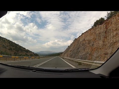 Driving on GR-7 (from Makri to Kato Asea), Arcadia, Greece (highway driving) – onboard camera