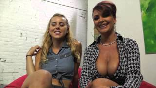 On set with Jessie Rogers and Janet Mason