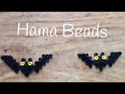 Echa a volar tu imaginación en Halloween con estos murciélagos de hama beads