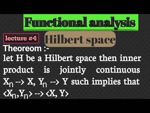 Bessel inequality in Hilbert space /orthonormal set in Hilbert in hindi by Himanshu Singhиз YouTube · Длительность: 27 мин20 с