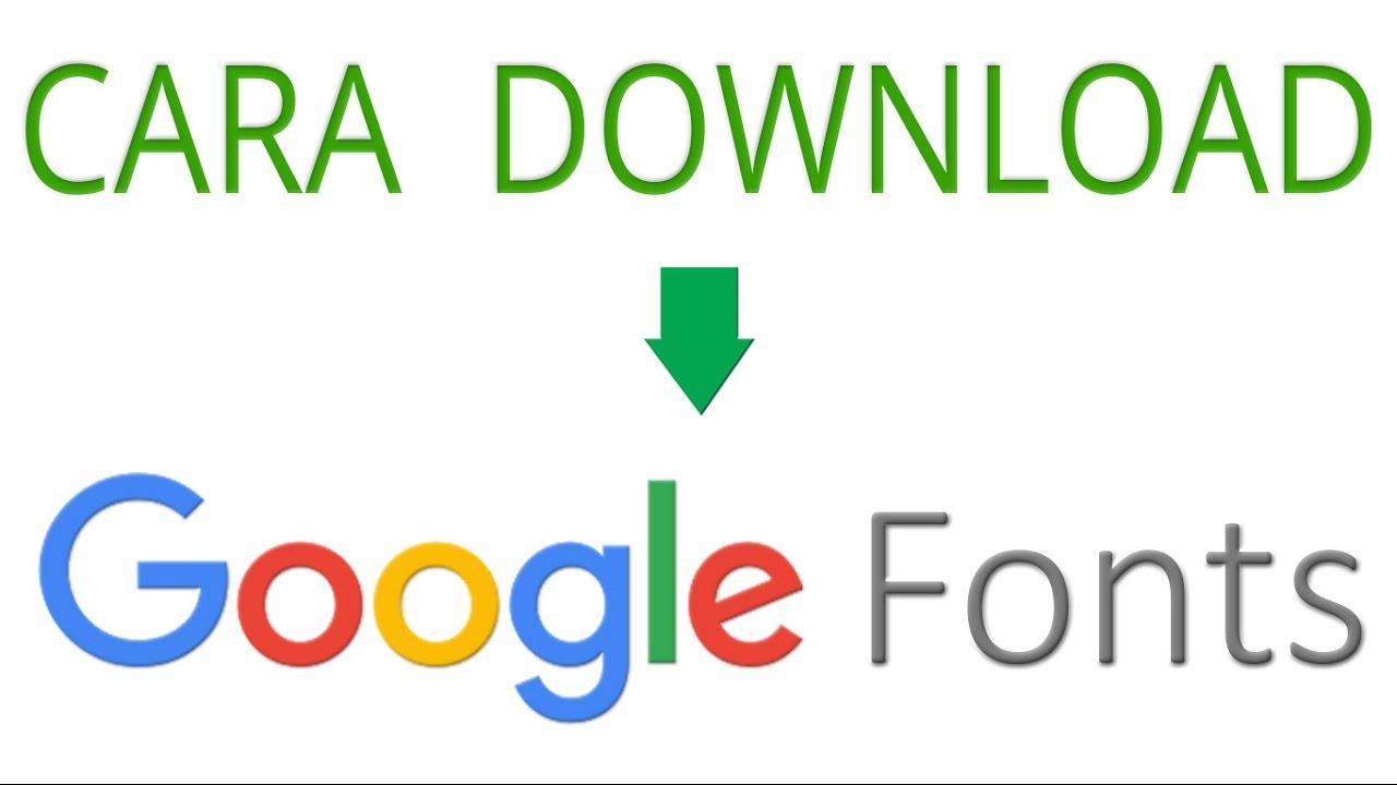 Google Fonts Download