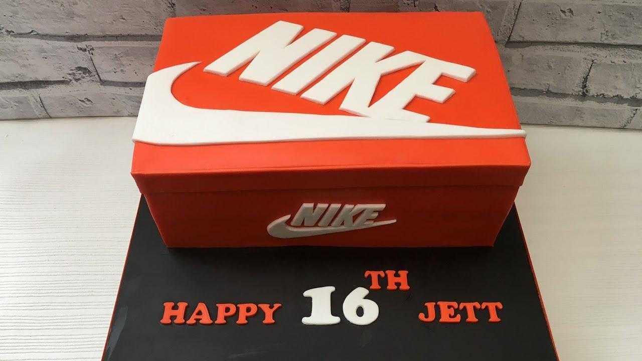 Nike Shoe Box Cake Youtube