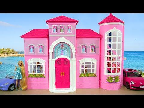 Rumah Barbie Malibu : Boneka Barbie Rumah Merah Muda