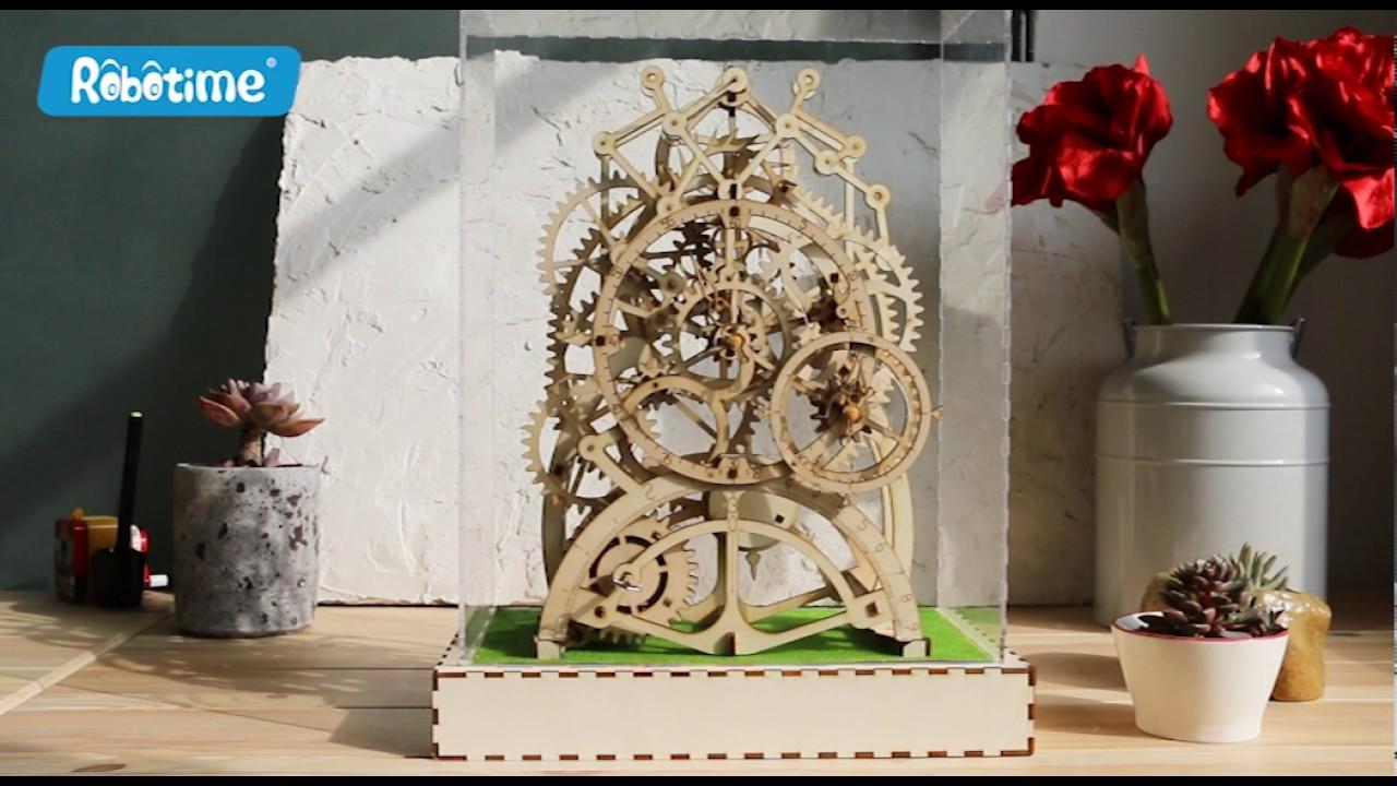 Mechanical Gears Locomotive 3d Assembled Puzzle Model Robotime