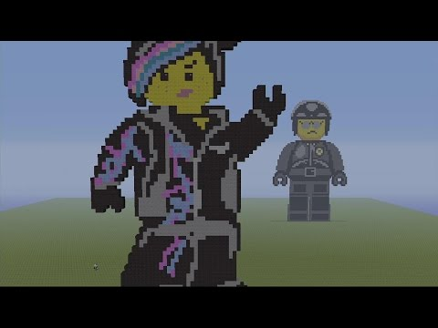WYLDSTYLE LUCY MINECRAFT SPEED BUILD PIXEL ART ~ The Lego Movie MC Pixel