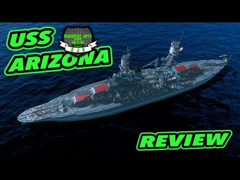 World Of Warships BLITZ - Battleship USS Arizona - Review