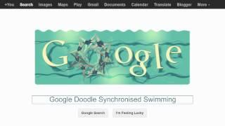 London 2012 Synchronised Swimming (google Doodle)