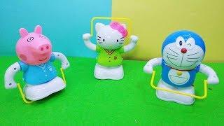 Đồ chơi ĐÔRÊMON, HELLO KITTY, HEO PEPPA PIG NHẢY DÂY - Đồ chơi trẻ em