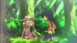 ash meets serena 【pokemon the series xy english fandub】