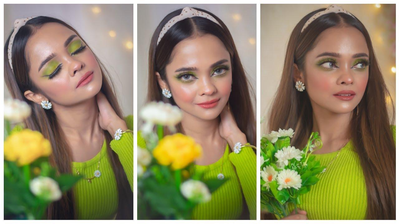 Teenage friendly Colorful Eye Makeup | Neon Eye Makeup | Sadia Khan Kasas ☘️🥰💋