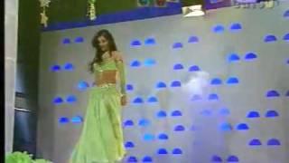 Turkish belly dancer Tanyeli in Turkish Tv