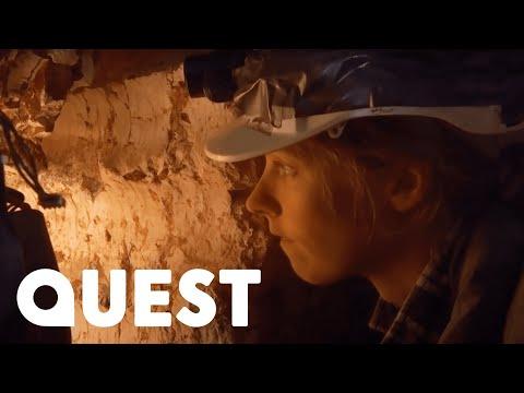 Rookie Hunters Find Rare Opal Belemnite In Underground Mine | Outback Opal Hunters