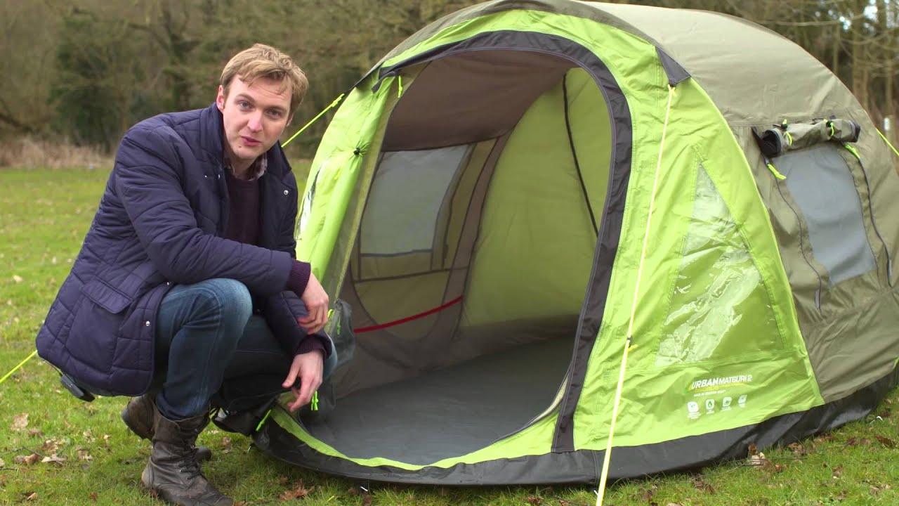 Urban Escape Matsuri 2 Person Pop Up Tent - YouTube