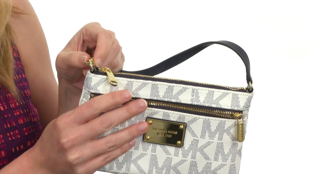 2629a965e3fd MICHAEL Michael Kors Jet Set Item Large Wristlet SKU:8421752 - YouTube